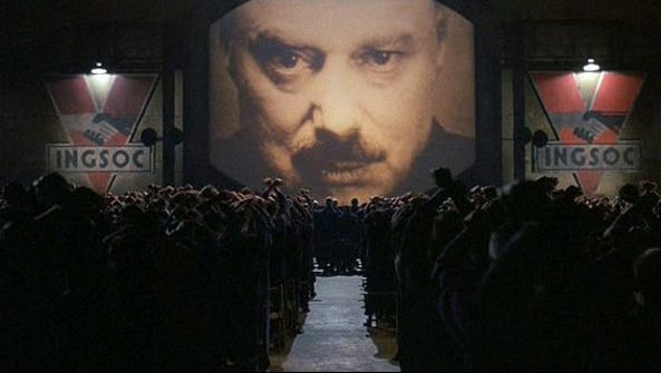 A scene from the George Orwell-adapted film, '1984.'