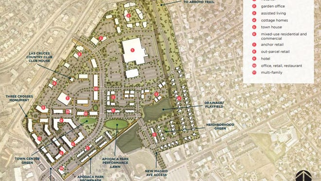 The Apodaca Blueprint presents this conceptual plan for the old Las Cruces Country Club.