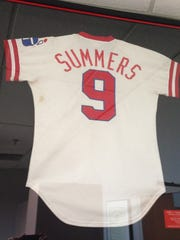 Home Indians jersey of Champ Summers from 1978.