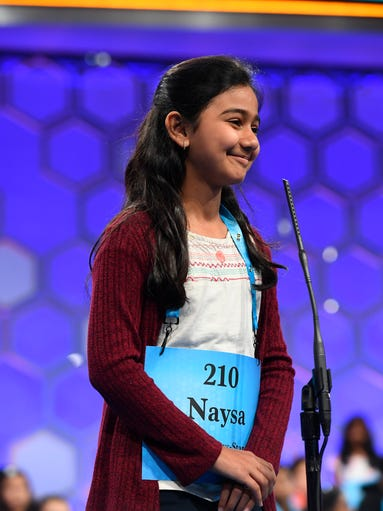 Naysa Modi takes on finals at Scripps National Spelling Bee