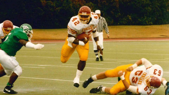 Potts (42) signed with ULM out of Rayville High School and left as the program's all-time leading rusher. He currently sits at second on the rushing list now with 3,061 career yards and 17 touchdowns.