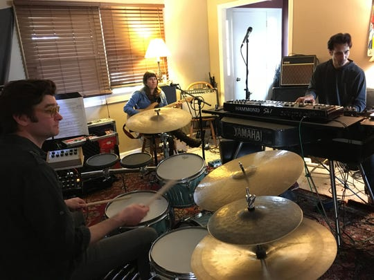 Anna Coogan and Tzar rehearse for the Cornell Cinema