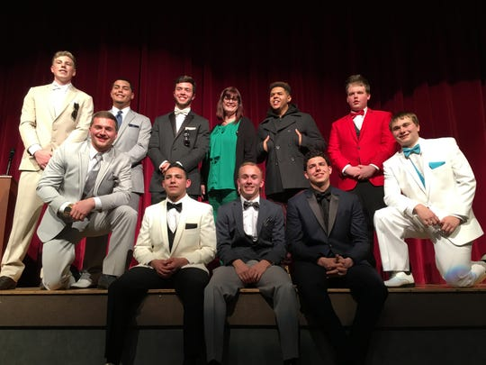 Participants in the Mr. Hoppatcong Pageant from left