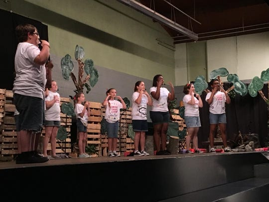 "Students and parents from Family Christian School attended a dinner theater performance Friday at the school. The program, ""Down by the Creek,"" featured students from FCS in a two-part performance."
