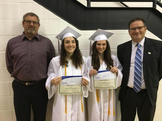 Scholarship Recipients 2016 - Kaylie Callihan and Quinci Jones