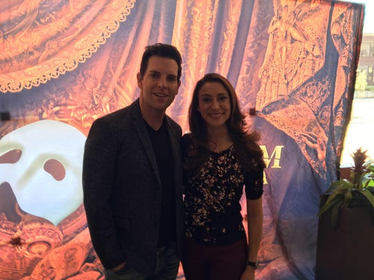 """Chris Mann and Jacquelynne Fontaine star in """"Phantom of the Opera,"""" currently playing at the Saroyan Theatre."""