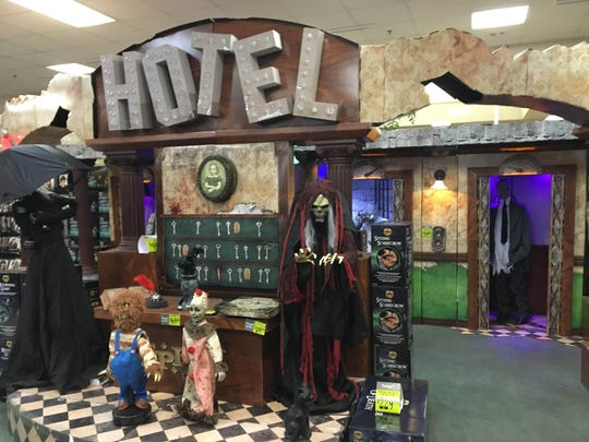 Spooky decorations on display at the Spirit Halloween store in Visalia.