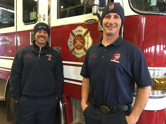 Capt. Brandon Jaraczeski (left) and Engineer Trevor