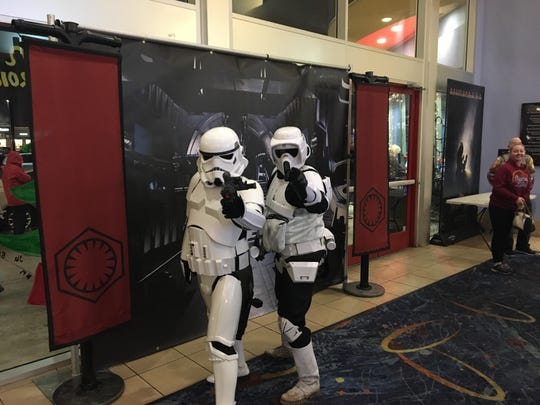 "Storm Troopers celebrated the release of ""Rogue One"" Thursday night at the Tulare Galaxy Theatre."