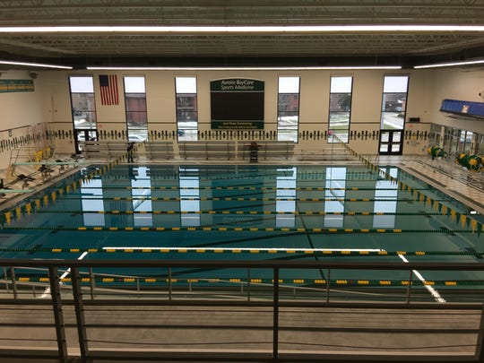 The $9 million project upgraded the size of the pool and viewing capacity to 400 fans in the upper level bleachers.
