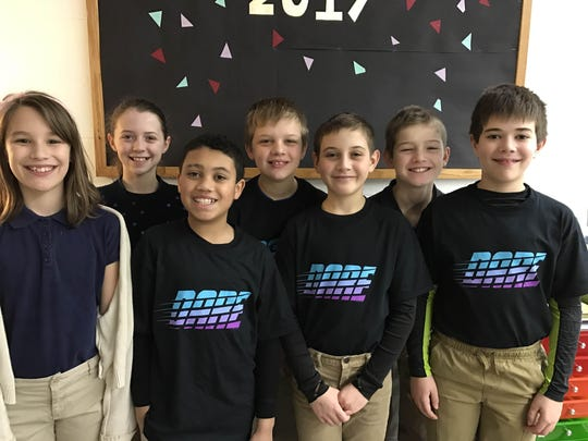 The St. Mary Elementary School fifth-grade band students are excited to join forces with the fourth-grade band students for the first time this year in preparation for their upcoming spring concert in May. Pictured are, from left, Lucy Engle, Kassadi Calmes, Ethan Tines, William Lawniczak, Ashton Post, Braeden Brenn and Alex Walsh.