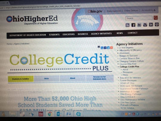 The College Credit Plus program offers free college classes to middle school and high school students. Tuition is covered by taxpayer dollars.