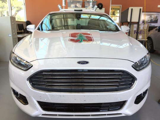 An autonomous Fusion nicknamed Trudi — after Gertrude Stein, the American expatriate writer — is part of the university's partnership with Ford.