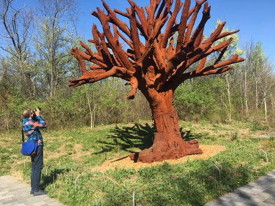 """""""Iron Tree,"""" by Ai Weiwei, was """"planted"""" in 2015 at"""