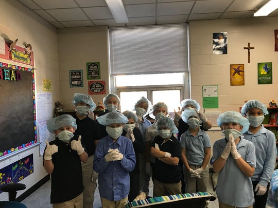 "St. Mary Elementary School third-graders have been learning, but also having fun. They began their second unit in reading by becoming ""surgeons."" They learned nonfiction text features and then did some surgery by cutting out different text features from magazines."
