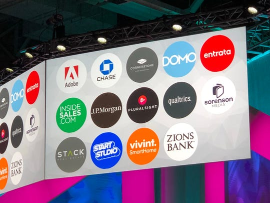 A look at the sponsors for Silicon Slopes Tech Summit stage.
