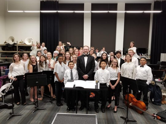 The Maplewood Middle School Orchestra performed a winter