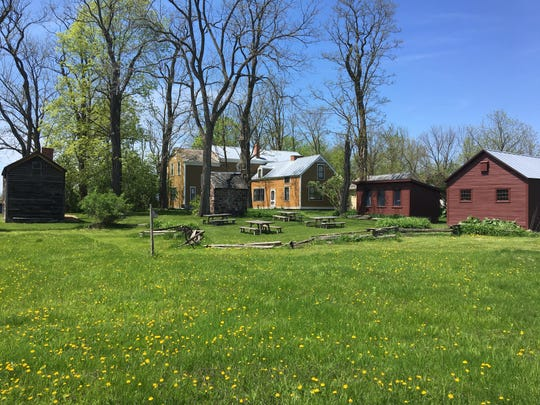 Robinson family home and outbuildings, seen in the spring of 2018.