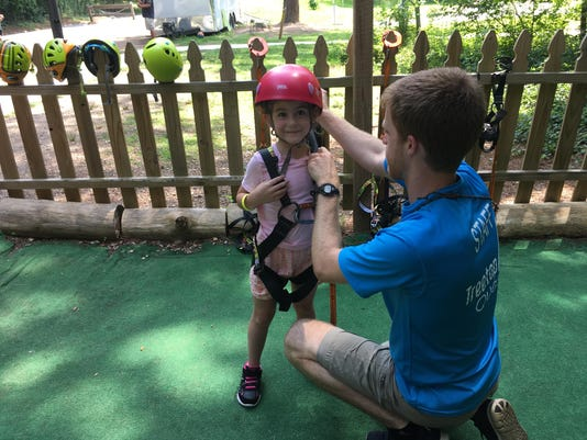 Dunwoody_Rosa getting ready for Treetop Quest