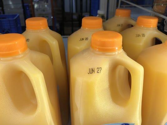 Orange juice due date