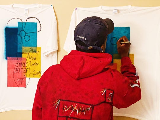 Samuel Adepoju, 23, of Willingboro, will donate 50% of the proceeds from a T-shirt he designed to help fight against food insecurity caused by the COVID-19 pandemic.
