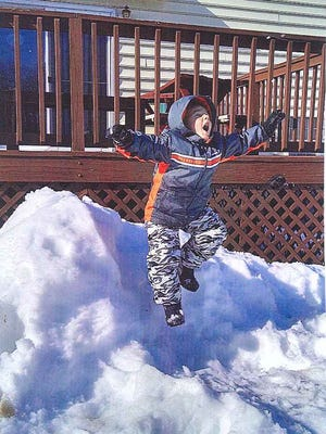 Loretta Bear of New Oxford submitted this photo of her 5-year-old great-nephew Madden Frantz in mid-air.