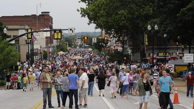 The 2014 Artwalk was held July 18, 2014, in downtown Lancaster. Thousands turn out for the event each year.