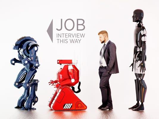 Robot job interview