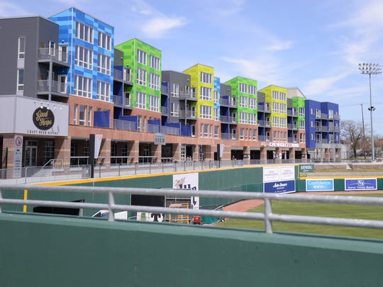 The Outfield Apartments in Lansing on Wednesday, April 27, 2016.