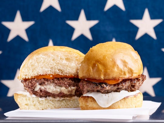 Red, White & Blue burger from Hoss' Loaded Burgers