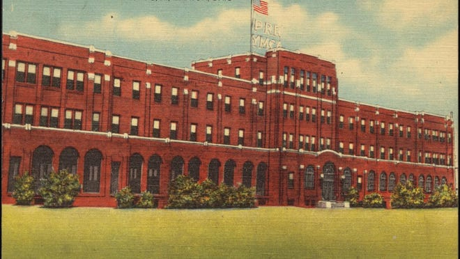 This postcard shows the imposing Pennsylvania Railroad YMCA in Canton, the home away from home for train employees passing through Canton.