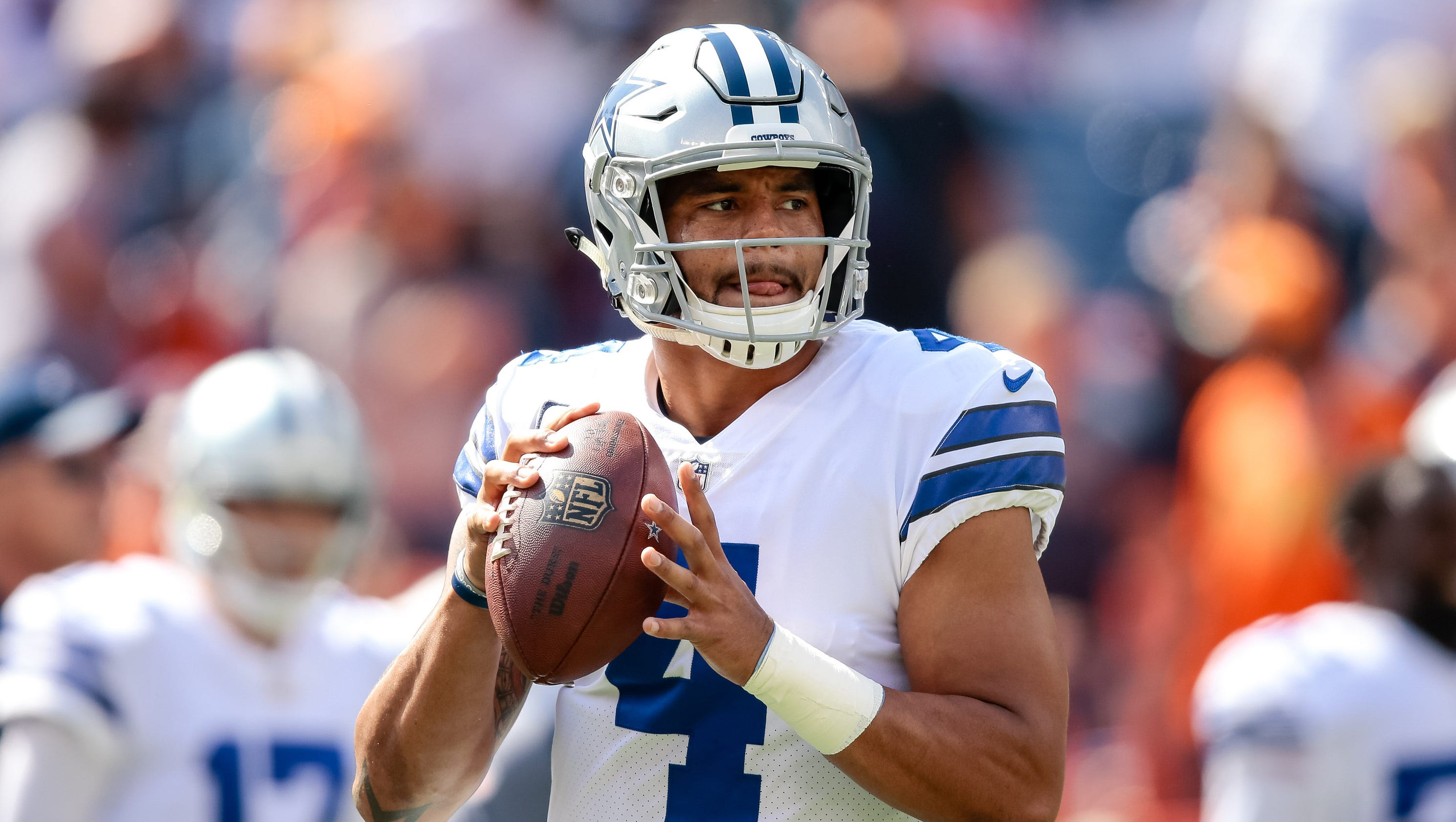 Cowboys Dak Prescott sets record for fewest INTs in first