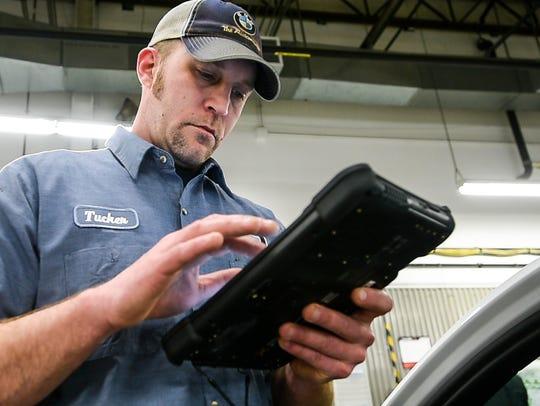 Tucker Burritt explains how he uses a tablet as part