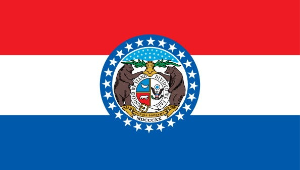 Missouri State Flag. (Photo By Encyclopaedia Britannica/UIG Via Getty Images)
