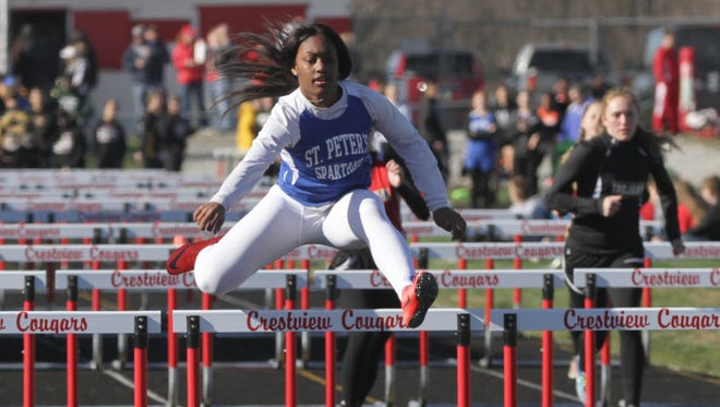 St. Peter's senior Alysse Wade is set to defend her three 2017 titles at the state track meet.