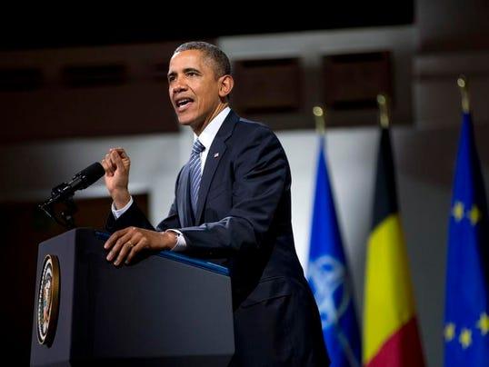 Obama Belgium NATO EU