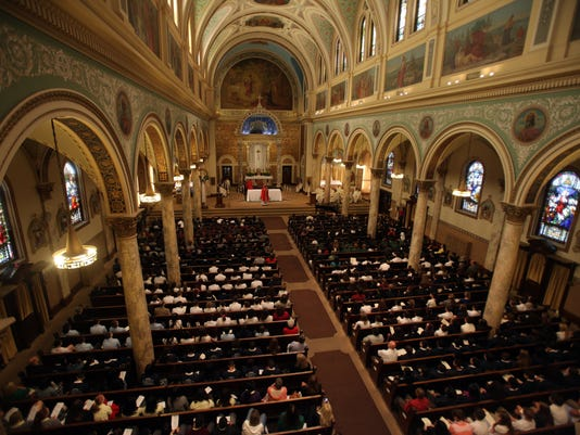 Inside the Church of the Sacred Heart, Yonkers