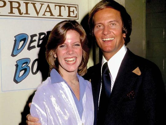 Debby Boone with her dad, Pat; early.