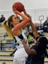 Dallastown High School graduate Katie McGowan is expected to be a force in the post this season for York College.