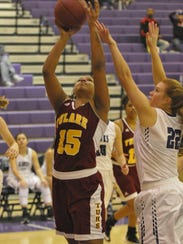 Tulare Union's Kiara Brown goes up for the layup as