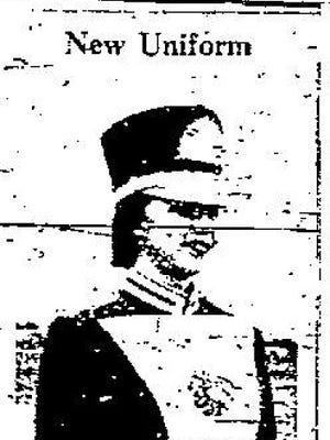 Joan Park models the new Vero Beach High School band uniform in the Feb. 14, 1957, issue of the Press-Journal.