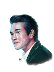A digital painting of Thai model and actor Nadech Kugimiya