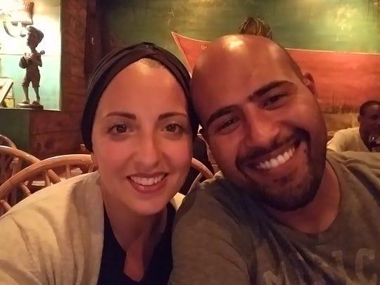 Nermeen Elhusseini and her husband.