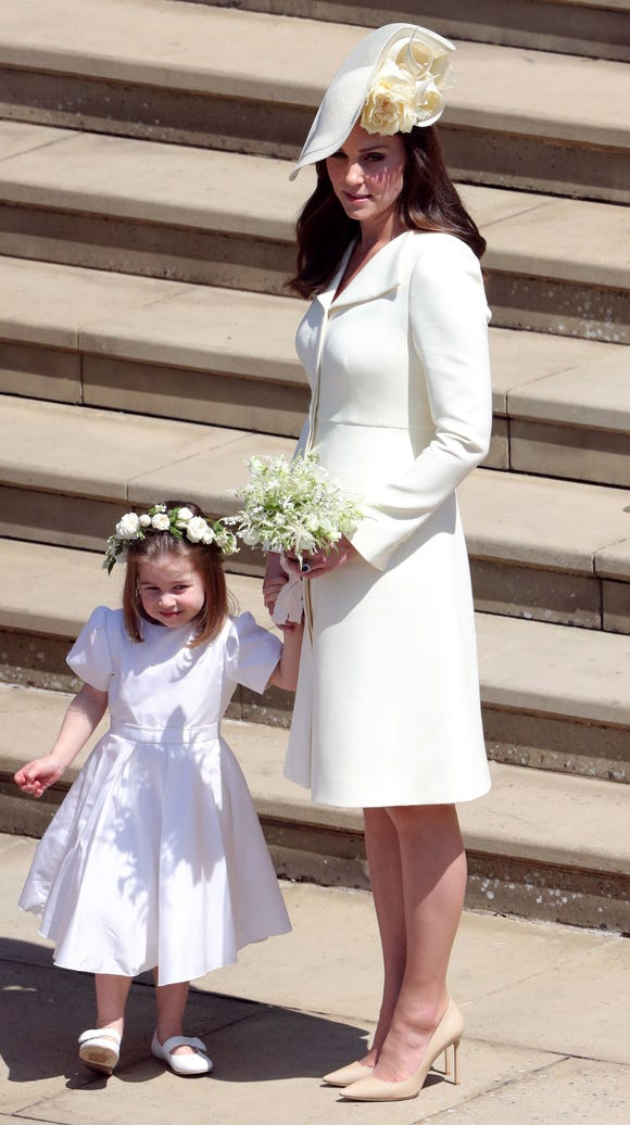 Kate with her daughter Princess Charlotte.