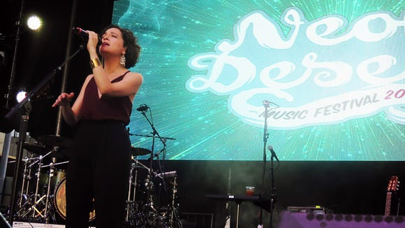 Grammy Award-winning Mexican singer-songwriter Natalia Lafourcade performs Sunday on the Franklin Mountain Stage  during the Neon Desert Music Festival.