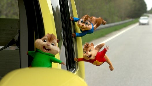 Theodore, Alvin and Simon go a road trip in the fourth installment of the franchise.