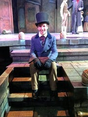"Teddy13 - teddy - Teddy Anagnostopoulos (seated) takes a break during the Milwaukee Repertory Theater's 2016 production of ""A Christmas Carol."" He is the fifth member of his family to play a role in the production.