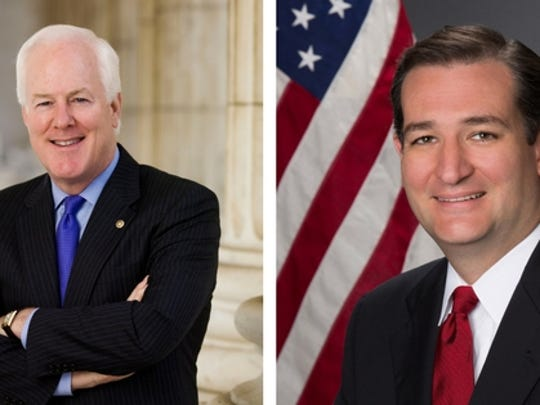 Texas senators John Cornyn and Ted Cruz
