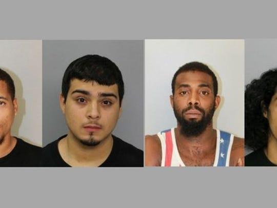From left, Traunser Hughes, Filamir Gomez Jr., Jeremiah