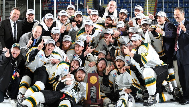 St Norbert College celebrates its national championship victory